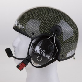 NVOLO - VISIBLE CARBON-KEVLAR FINISH HELMET WITH HEADSETS