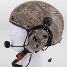 "NVOLO - CARBON HELMET WITH ""DESERT"" FINISH WITH HEADSETS"