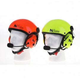 NVOLO - PAINTED WITH COLORS HIGH VISIBILITY CARBON HELMET WITH HEADSETS