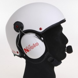 """NVOLO - CARBON HELMET WITH """"DESERT"""" FINISH WITH HEADSETS"""